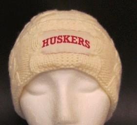 Captivating Headgear Nebraska Huskers Braided Knit ()