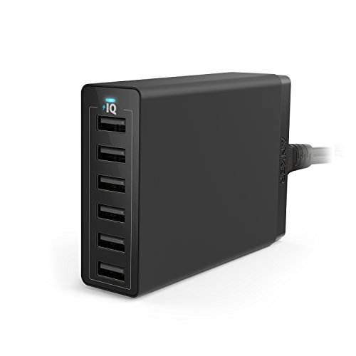 Anker 60W 6-Port USB Wall Charger, PowerPort 6 for iPhone 7 /...