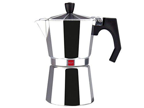 Magefesa 01PACFKEN09 Kenia Aluminum 9 Cups Coffee Maker, Silver Coffee Pot Aluminum 9 Cup