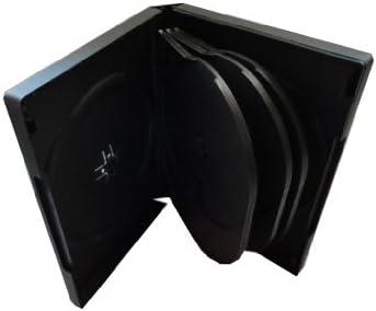 DVD CD Caja para 8 móvil black: Amazon.es: Oficina y papelería