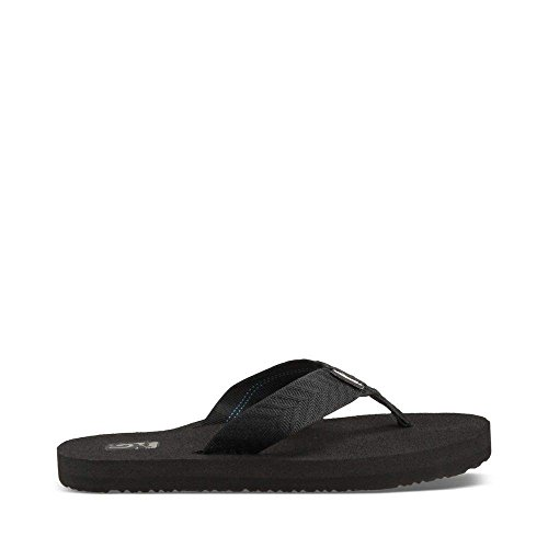 Teva Women's Mush II Flip Flop,Fronds Black,8 M US