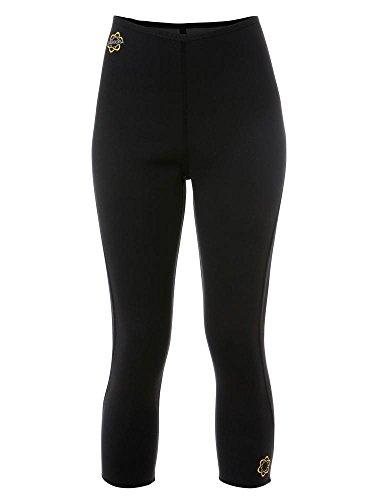 Pants High Hot Waisted (Zaggora Women's Capri 2.0 Hotpants Pant, Black, Large)