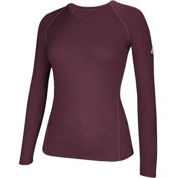 5fbf231f Adidas Climalite Womens Long Sleeve Training Tee Maroon at Amazon ...