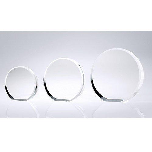 - Circle Beveled Optical Crystal Award - Small