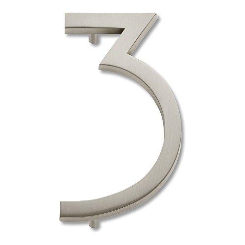 brushed nickel numbers - 4