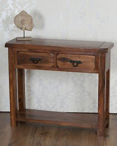 Classically Modern Valencia Solid Sheesham Rosewood Fully Assembled Console  Table