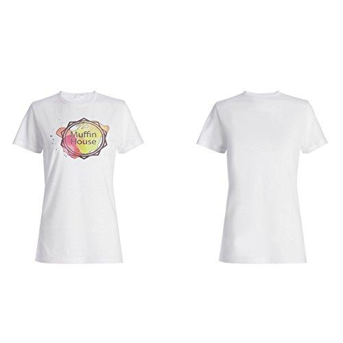 Arte De La Casa Del Mollete Sabroso camiseta de las mujeres m843f