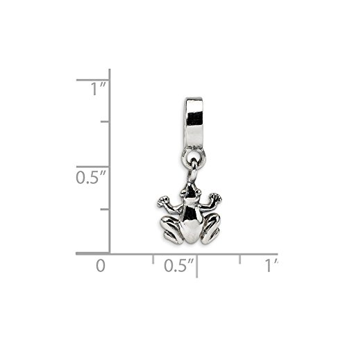 Solid .925 Sterling Silver Reflections Frog Dangle Bead 21.82 mm
