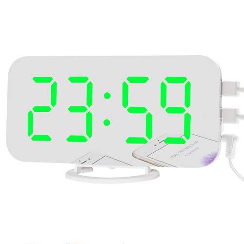 dongzhifeng Reloj Despertador Digital Junto a la Cama Sin Hacer ...