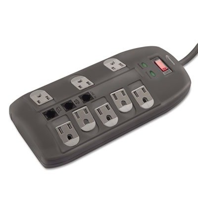 (3 Pack Value Bundle) IVR71656 Surge Protector, 8 Outlets, 6ft Cord, Tel/DSL, 2160 Joules - Protector 2160 Joules 6ft Cord