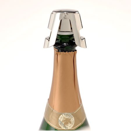 Super-Seal Champagne Stopper | 2250-chrome boxed, #5953 by Franmara (Boxed Champagne)