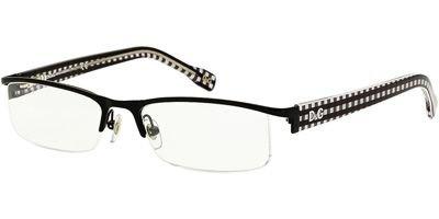 D&g Vichy Dd5095 Eyeglasses 1063 Black Demo Lens 52 17 - Rimless Dolce And Eyeglasses Gabbana