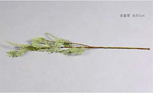 Artificial-Decorative-Flowers-Fresh-literary-simulation-mimosa-high-end-flower-arrangement-single-bundle-model-room-decoration-flower-study-with-flowers-Flower-Products-includeArtificial-Flowers
