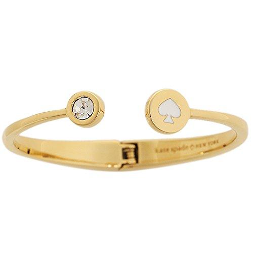 Kate Spade New York Spot The Spade Bangle Bracelet (White)