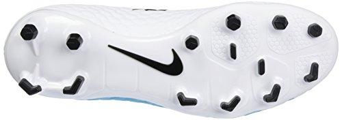 Nike Herren Hypervenom Phelon III FG Fußballschuhe Blau (White/Black-Photo Blue-Chlorine Blue)