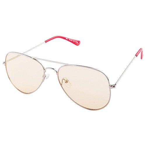 Farenheit Unisex Aviator Sunglasses (SOC-FA-200-C30|58|Silver)