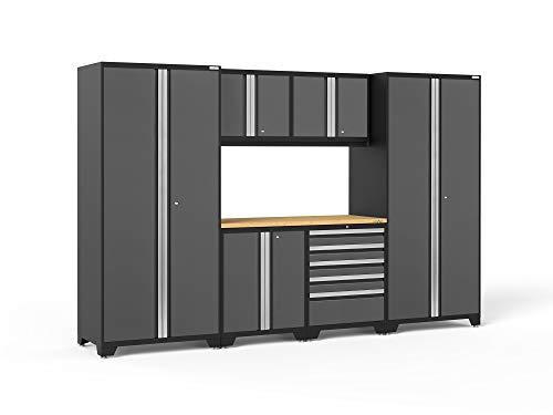 NewAge Products 52052 Pro 3.0 Series Bamboo Storage Set (7 Piece), - 7 Cabinet Piece Garage