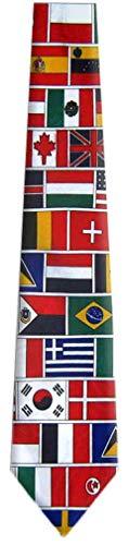FLAG29-WORLD - Green/Red/Blue/White - Polyester Flag Necktie