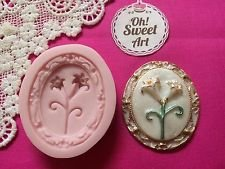[Lily Flower Cameo Brooch, Silicone Mold By Oh! Sweet Art FDA Approved for Food] (Cameo Flowers Brooch)