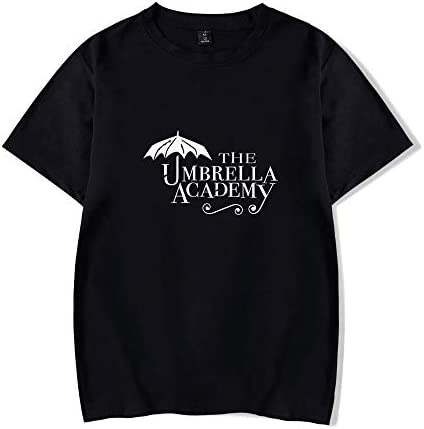 WAWNI Hot TV Series The Umbrella Academy Season 2 Print T-Shirt für Herren und Damska, Oversize O-Neck Tops Harajuku Kurzarm T-Shirt: Odzież