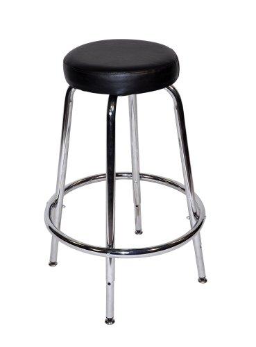 Martin Tundra Sturdy Adjustable height Padded Stool, Black,
