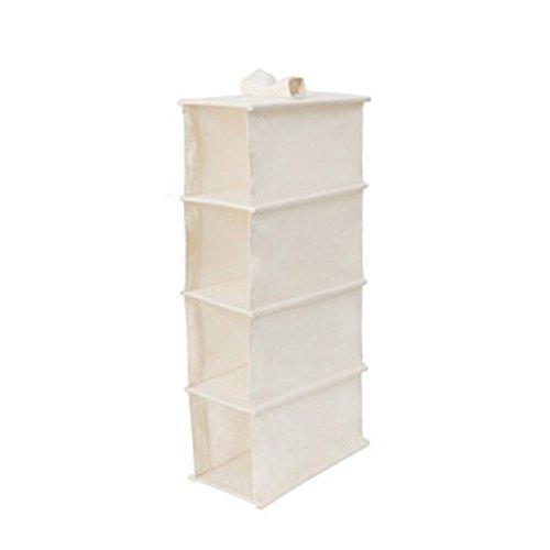 Colgando bolsa de almacenamiento de tela de múltiples capas de acabado bolsa dormitorio armario ropero Bolsa de...