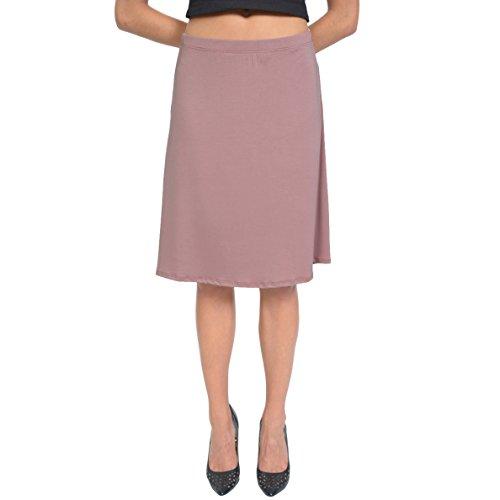 Stretch is Comfort Women's A-Line Skirt Mauve Medium (Adult Wrap Skirt)