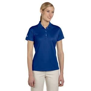 A131 adidas Women's ClimaLite Basic Pique Solid Polo Golf Shirt