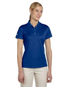 (adidas Golf Ladies ClimaLite Pique Short-Sleeve Polo - Collegiate Royal A131 X-Large)