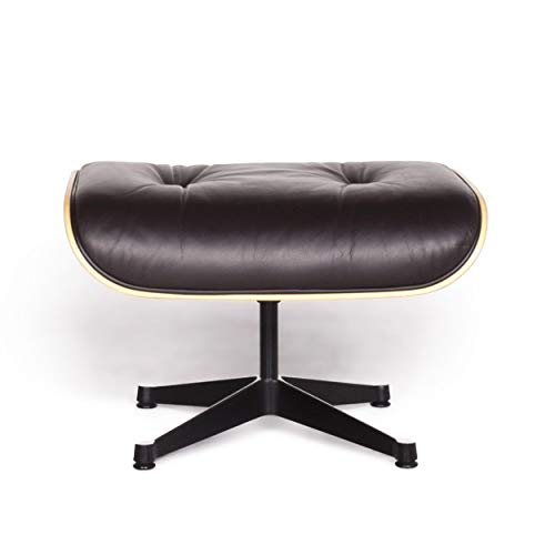 Vitra Eames Lounge Chair Designer Leather Stool Brown Charles & Ray Eames -