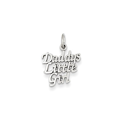 FB Jewels 14K White Gold Daddys Little Girl Charm