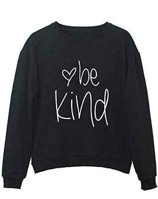 YITAN Women Be Kind Graphic Sweatshirts Cute Tops