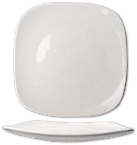 ITI-QP-9 Quad 9-3/4-Inch Square Plate, 24-Piece, White by ITI
