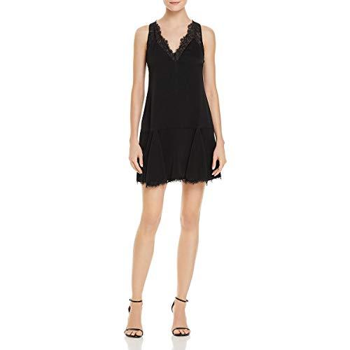 BCBG Max Azria Womens Mamie Lace Mini Cocktail Dress Black S ()