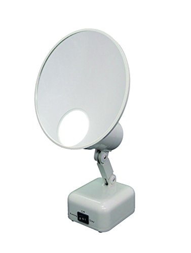 Floxite 15X Supervision Magnifying Mirror Light, Dove White (Best Lighted Magnifying Mirror)