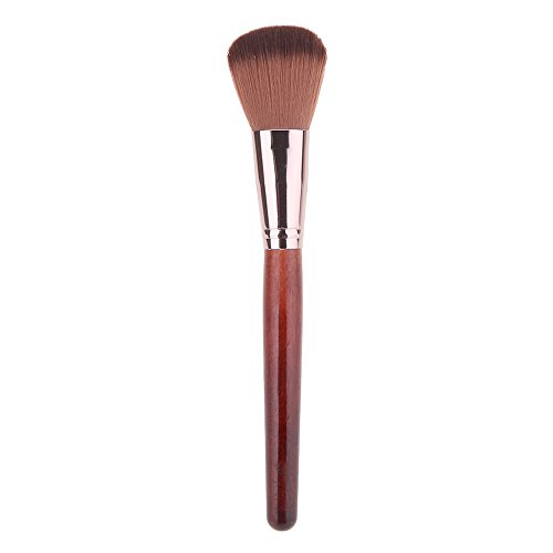 Mahogany Soft Foundation (Globeagle New 1pc Soft Makeup Large Fan Brush Blush Powder Foundation(Mahogany))