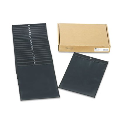 Oxfordamp;reg; - Shop Ticket Holders, Clear, 9 x 12, 25/Box - Sold As 1 Box - Hand-sewn black leatherette top panel.