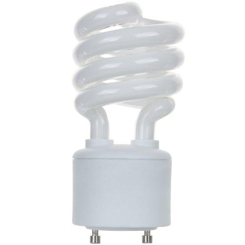 Sunlite SL18/GU24/41K SL18/GU24/41K 18-watt GU24 Spiral Energy Saving GU24 Base CFL Light Bulb, Cool White Spiral Energy Saving Bulb