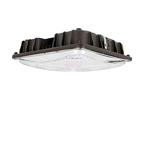 GKOLED 27W LED Square Canopy Light Replaces 100W PSMH with 3800lumens, 5000K and Dark Bronze Finish, UL Listed and DLC Qualified, 5-Year Limited Warranty Ideal for Indoor and Outdoor Applications ()