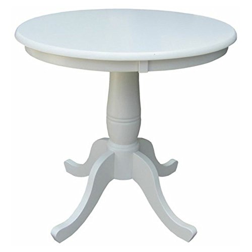 International Concepts Oakdale 30 in. Round Top Pedestal Dining (30 Inch Pedestal Dining Table)