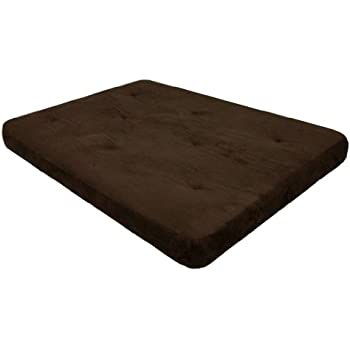 dhp 6 inch futon mattress chocolate brown amazon    dhp 6 inch futon mattress chocolate brown  kitchen      rh   amazon