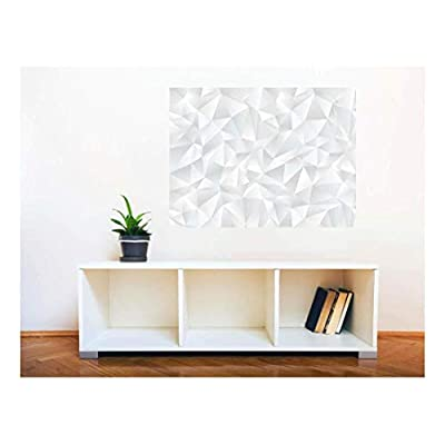 Removable Wall Sticker Wall Mural Abstract White Geometric...36