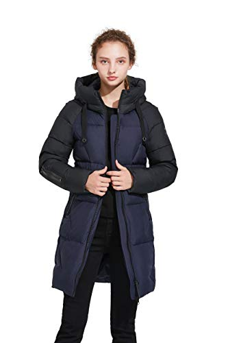 ICEbear Women's Thickened Casual Down Jacket Hooded Mid-Length Down Puffer Jacket Coats Parkas