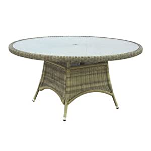 Sahara Round Woven Dining Table Size: 150cm