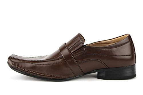 Buckle Dress Majestic Chocolate Loafers Mens 88206 Squared Shoes Toe gqqBPAT