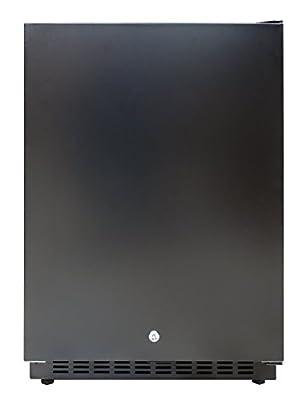 Vinotemp VT-50FDHT CEC 41-Bottle Indoor/Outdoor Wine Cooler for Garage, Basement, or Outdoor Use, Black