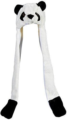 Plush Panda Hat Novelty Cap Animal Costume Beanie with Long Paws -