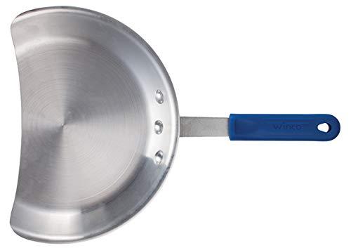 Winco AGP-10, 10-Inch Dia Aluminum Gyro Pan with Silicone Handle, NSF, Broiler Pan