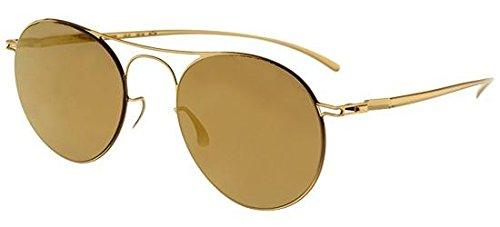Mykita - MAISON MARGIELA MMESSE005, Round, metal, men, GOLD/GOLD MIRROR(E2), - Eyewear Mykita