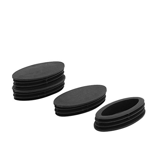 (uxcell Plastic Table Feet Oval Design Tube Pipe Insert End Cap 50mm x 98mm 4 PCS)